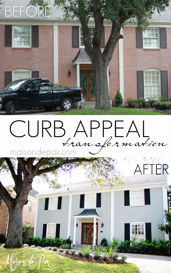 Great curb appeal ideas and painted exterior | maisondepax.com