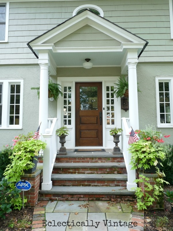 Eclectically Vintage Front Porch