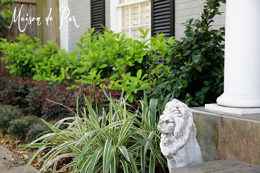 Easy Texas front yard landscaping- Maison de Pax