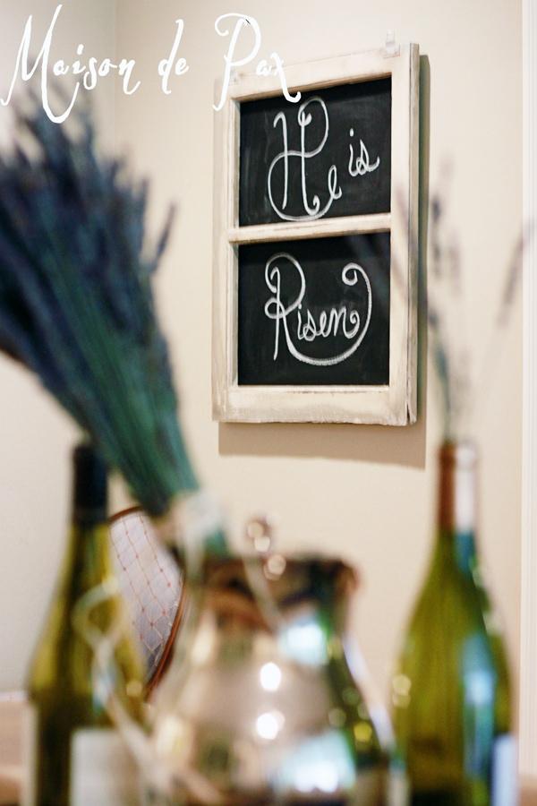Gorgeous and creative spring centerpiece via maisondepax.com #easter #tablescape #spring #decor