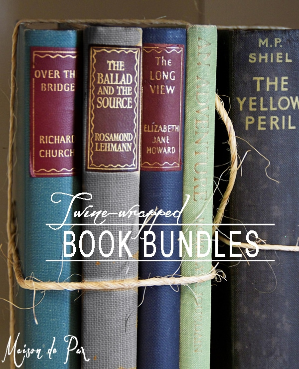 use twine to bundle and protect your beautiful books