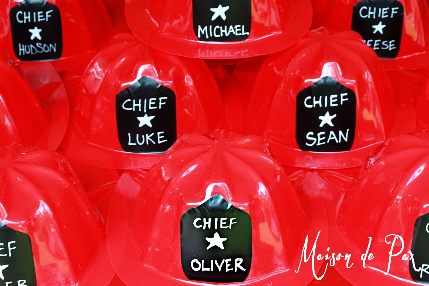 Personalized Fire Chief Helmets
