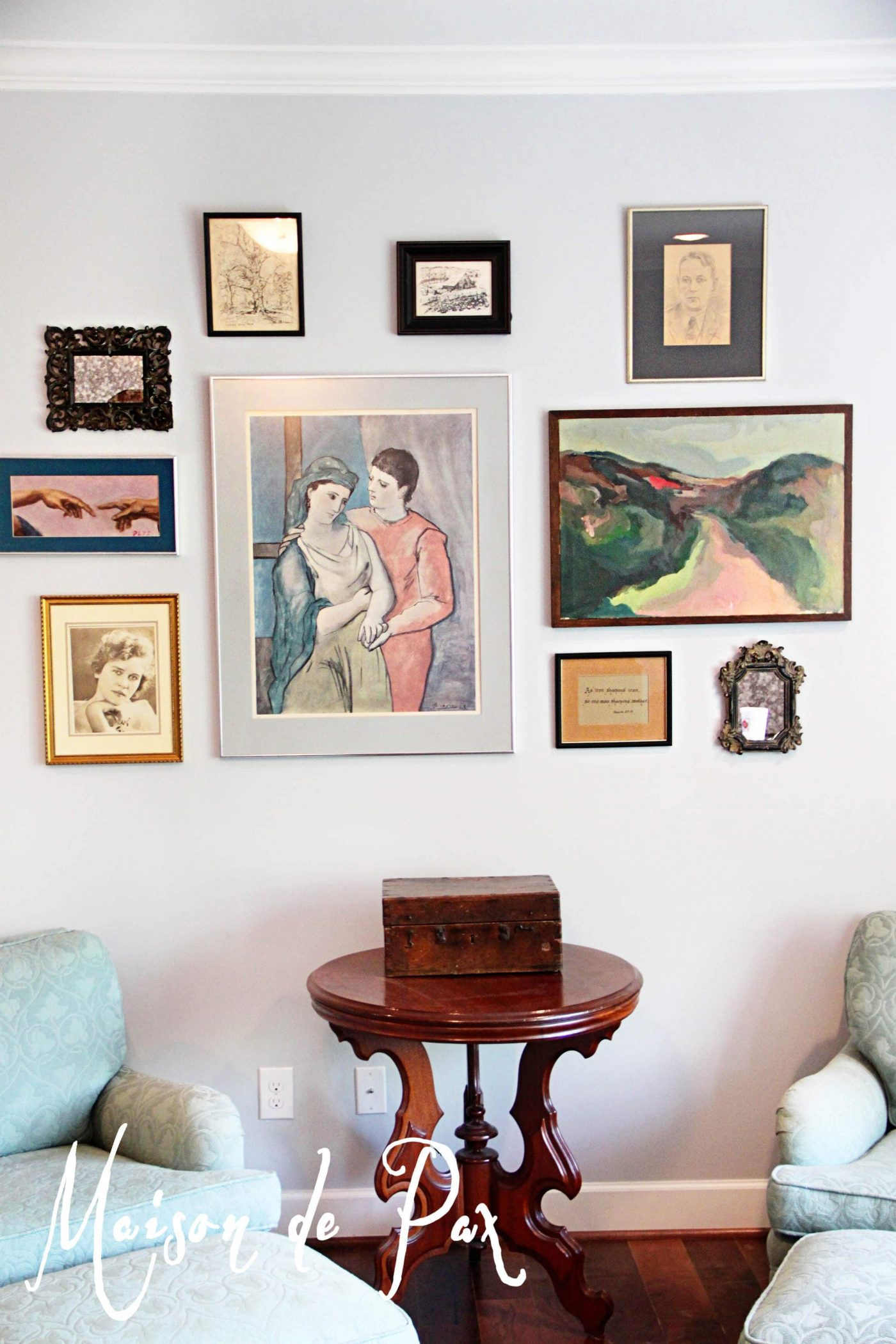 Eclectic Traditional Gallery Wall