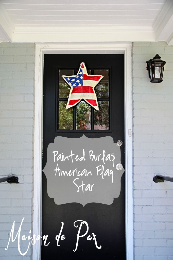 burlap star flag label- Maison de Pax