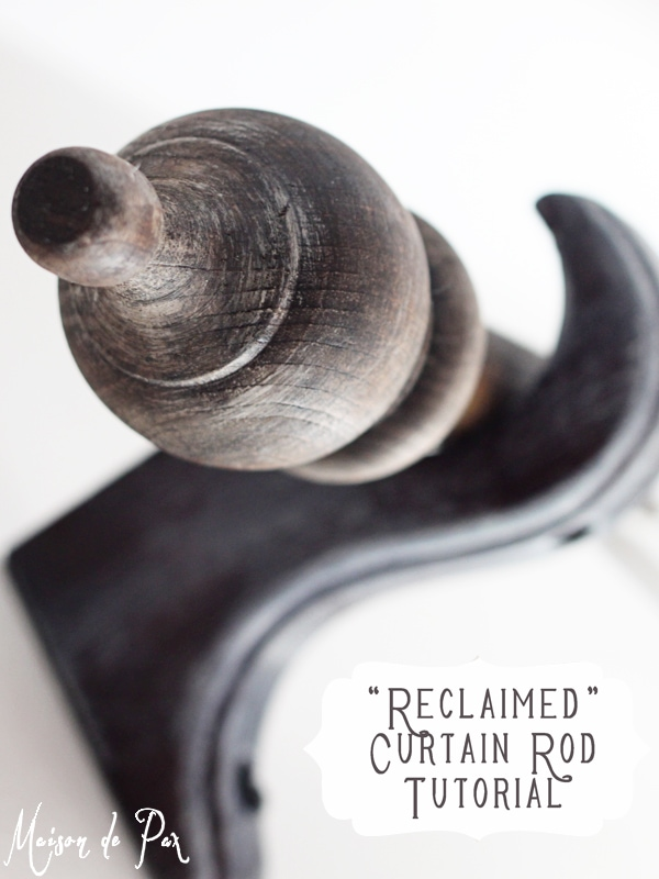 "Create your own ""reclaimed"" wood curtain rods for only $5!"