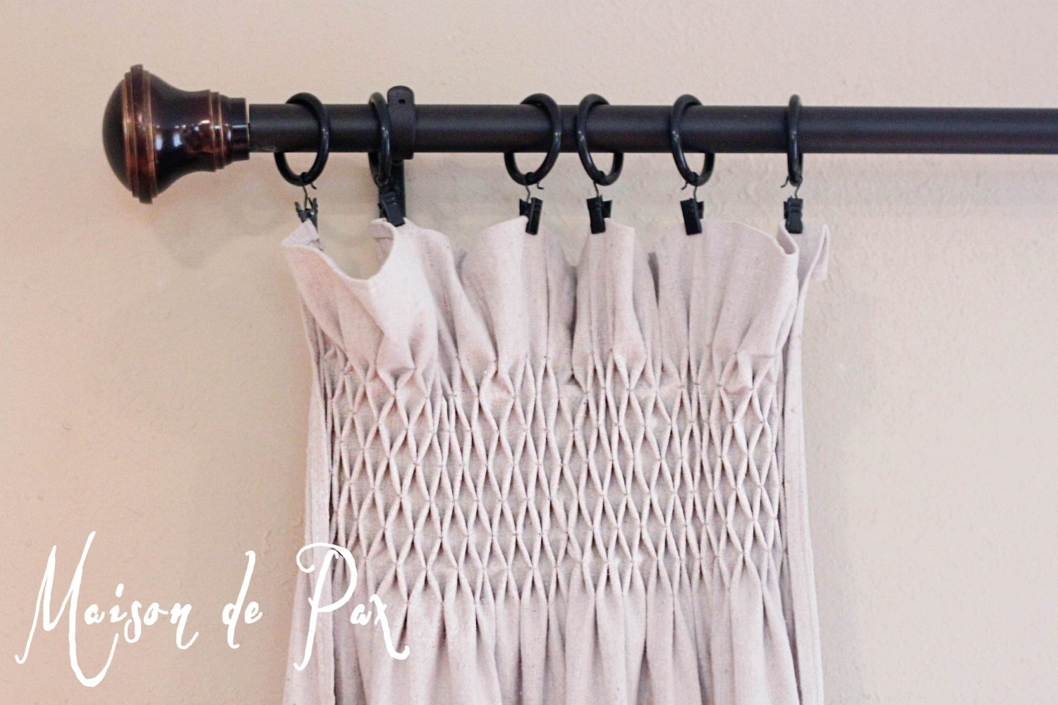 DIY Smocked Curtains - Maison de Pax