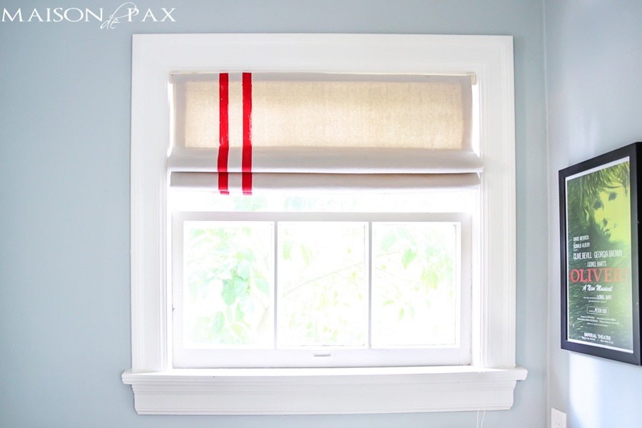 Turn old miniblinds into functioning roman shades | maisondepax.com #upcycle #diy #dropcloth