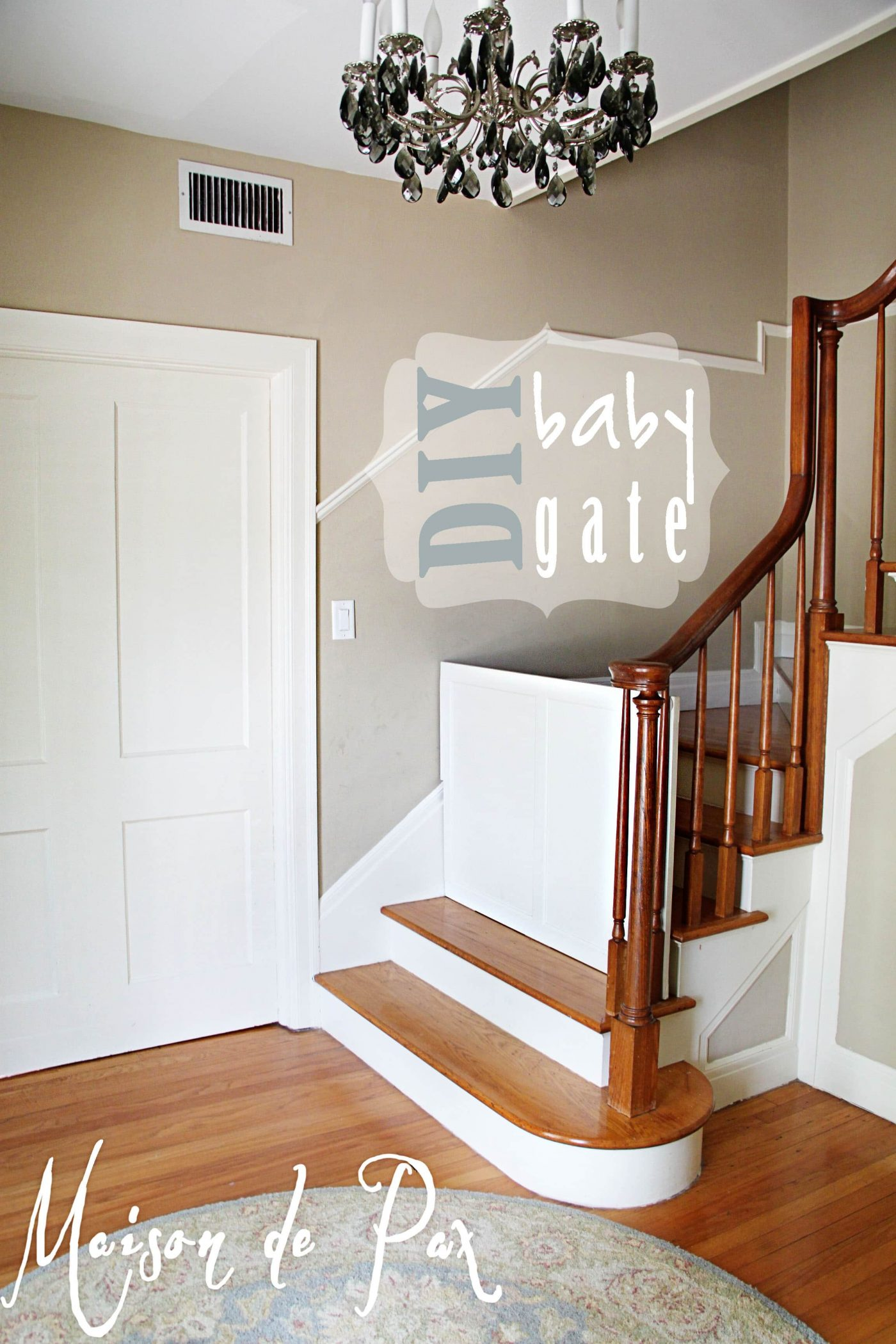 Gate For Stairs Diy Classy Baby Gate Maison De Pax