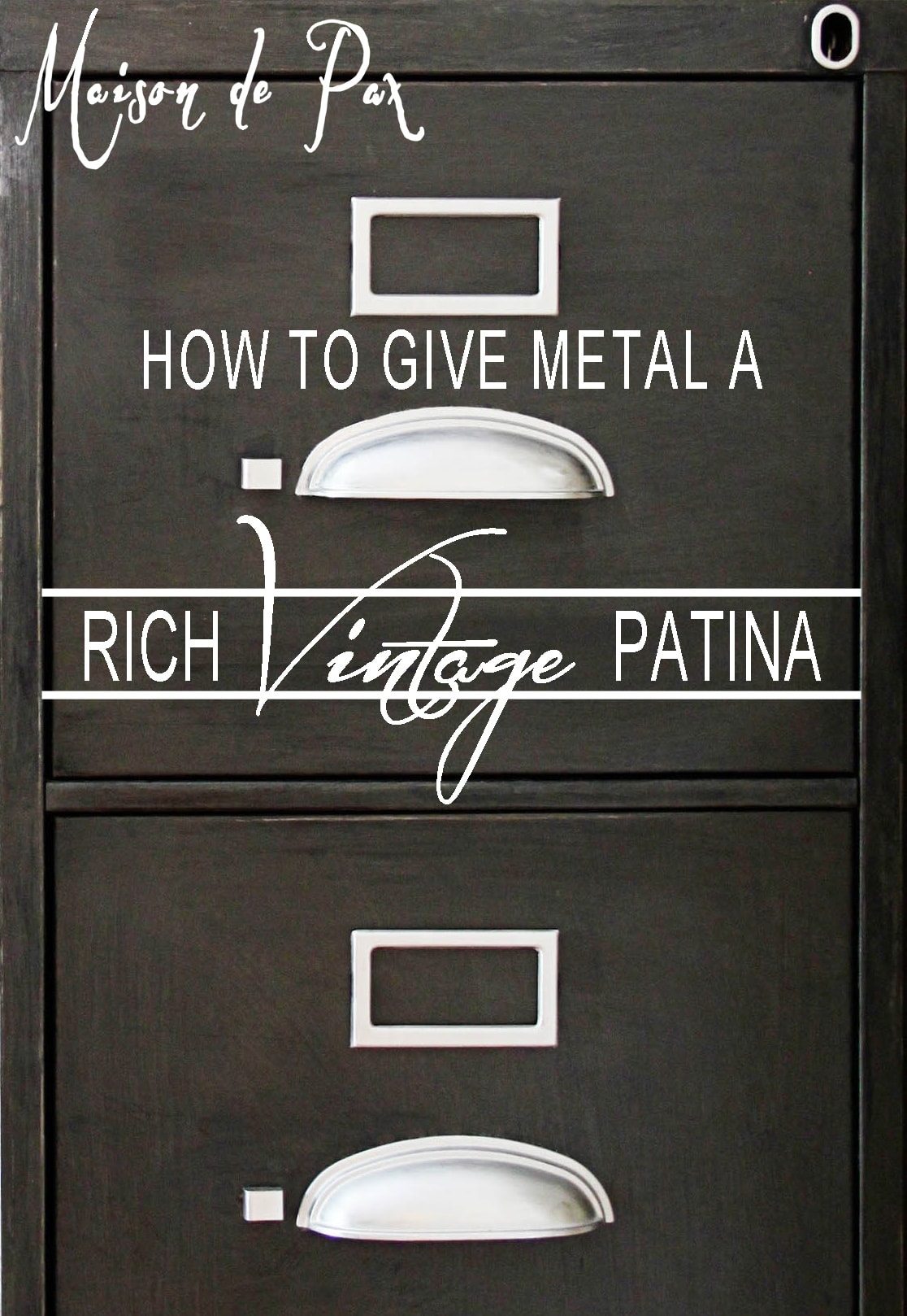 metal vintage patina sign