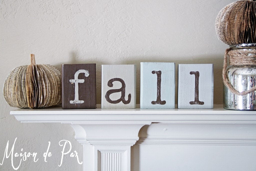 Fall blocks and a giveaway maison de pax for Decoration maison winners