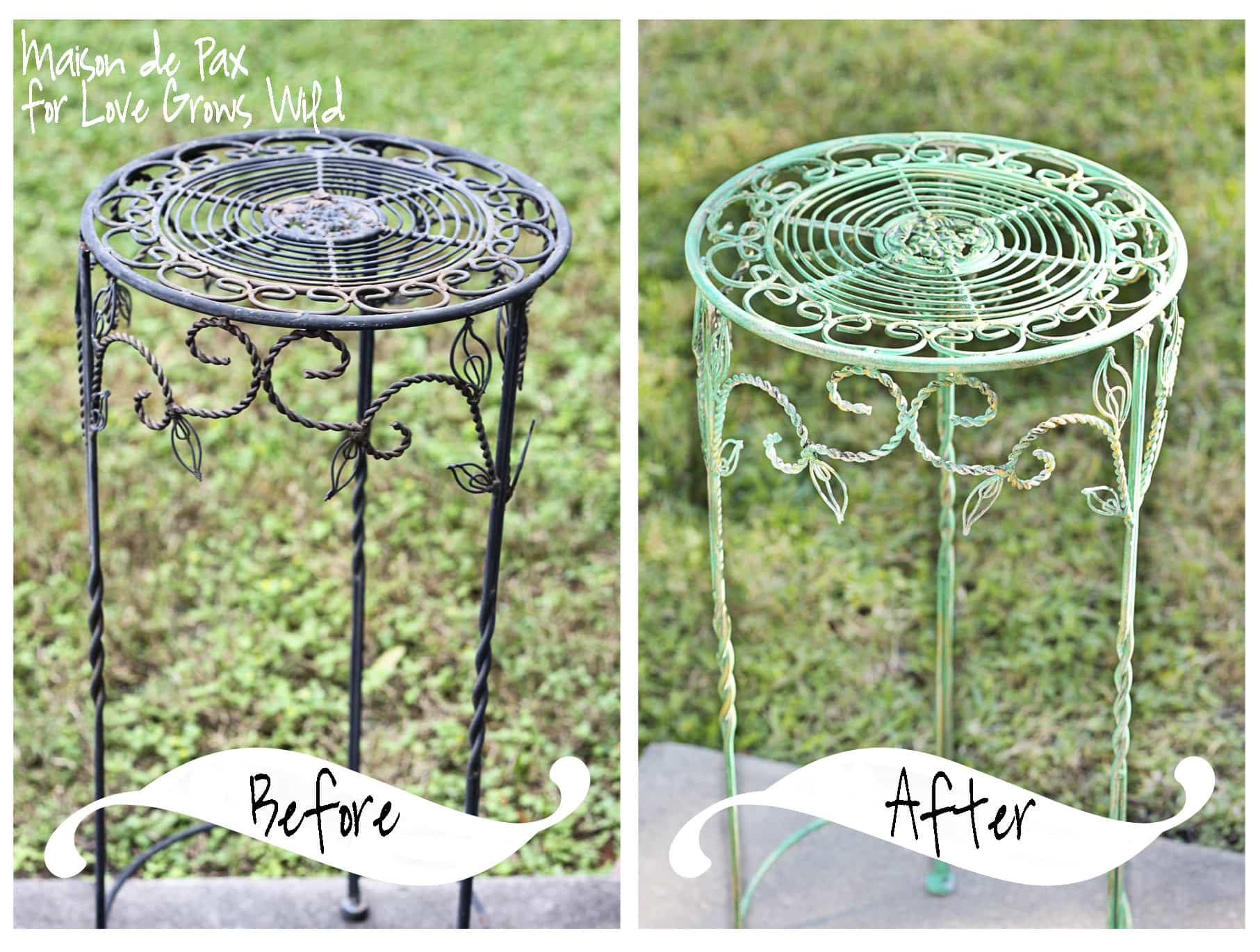 Learn how to achieve this gorgeous faux oxidized look at LoveGrowsWild.com