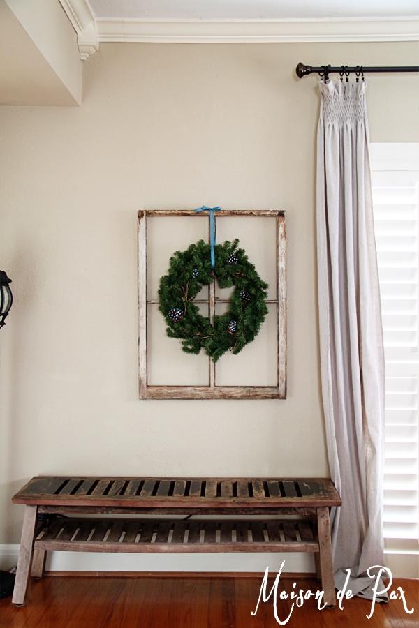 blue wreath full wall