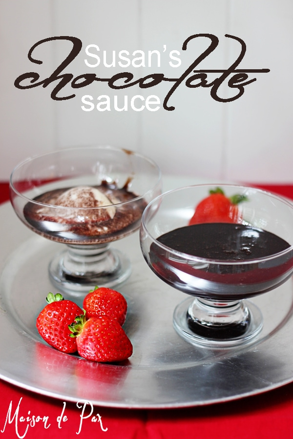 delcious homemade chocolate sauce