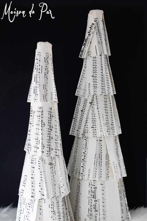diy sheet music Christmas trees