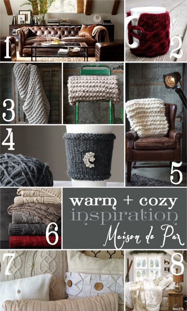 collection of warm and cozy inspiration for the fall and winter