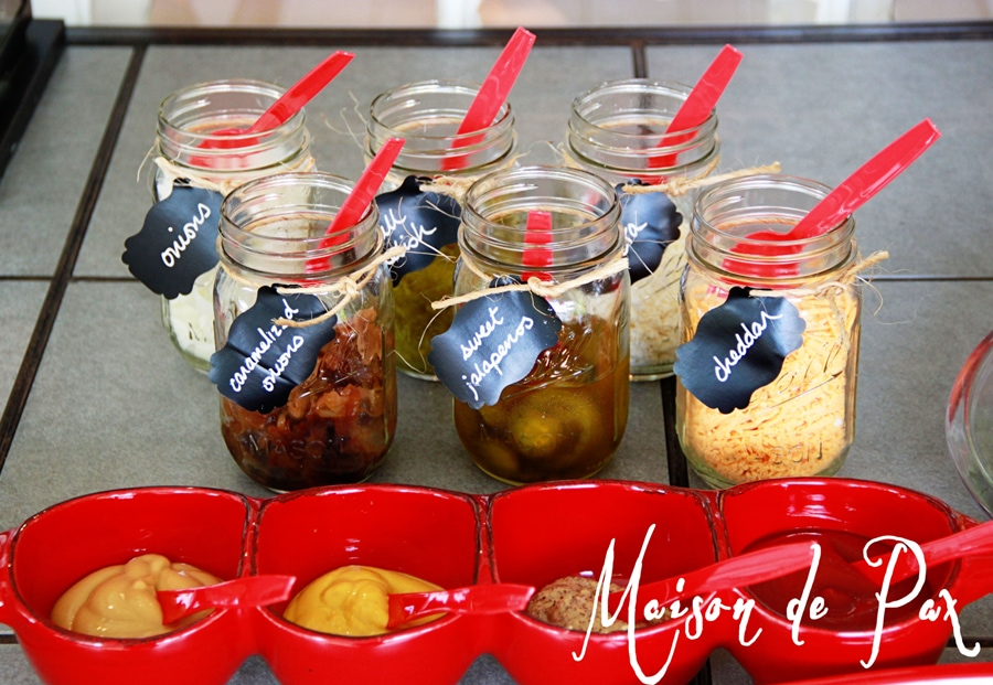 mason jar labels with chalk marker