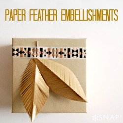 Paper Feather Embellishments 250