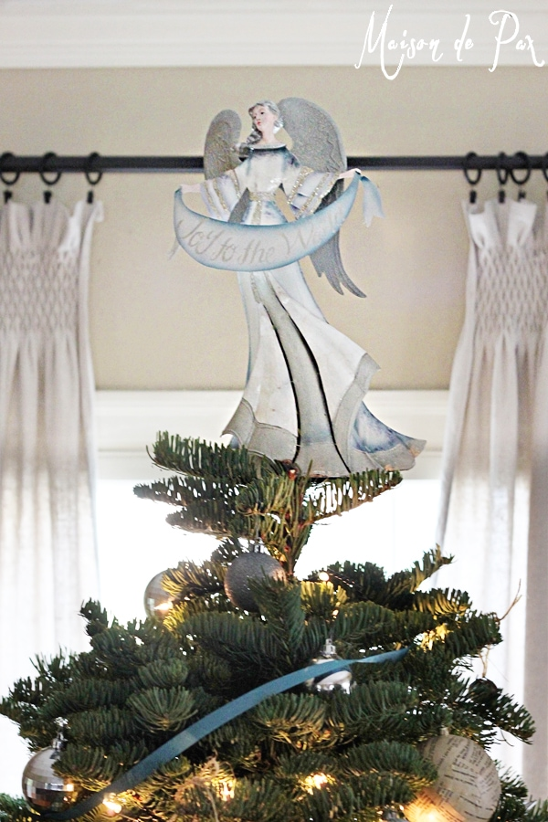 blue christmas tree topper
