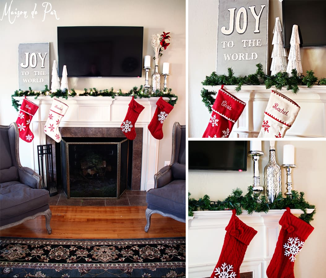 christmas tour mantel collage- Maison de Pax