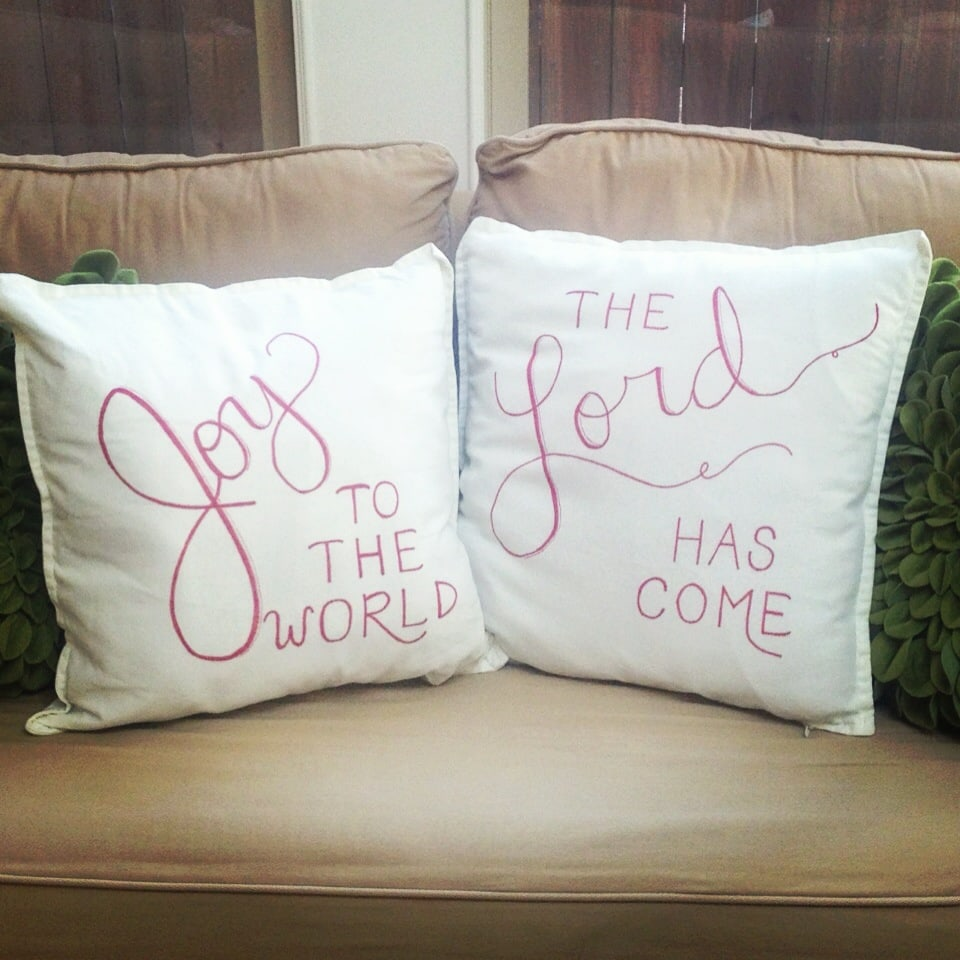 diy sharpie pillow joy