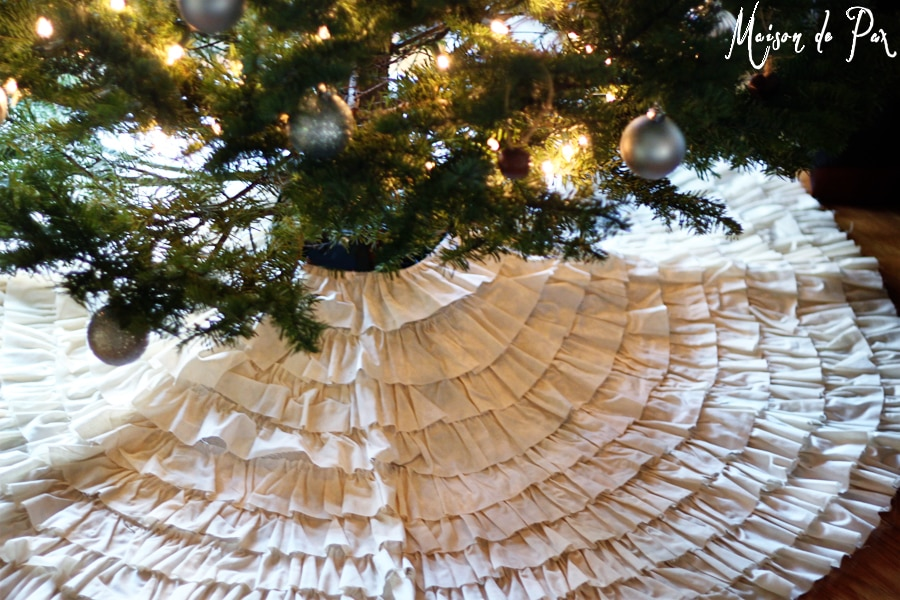 ruffled tree skirt- Maison de Pax