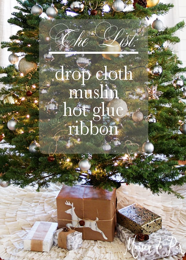 DIY ruffled tree skirt list- Maison de Pax