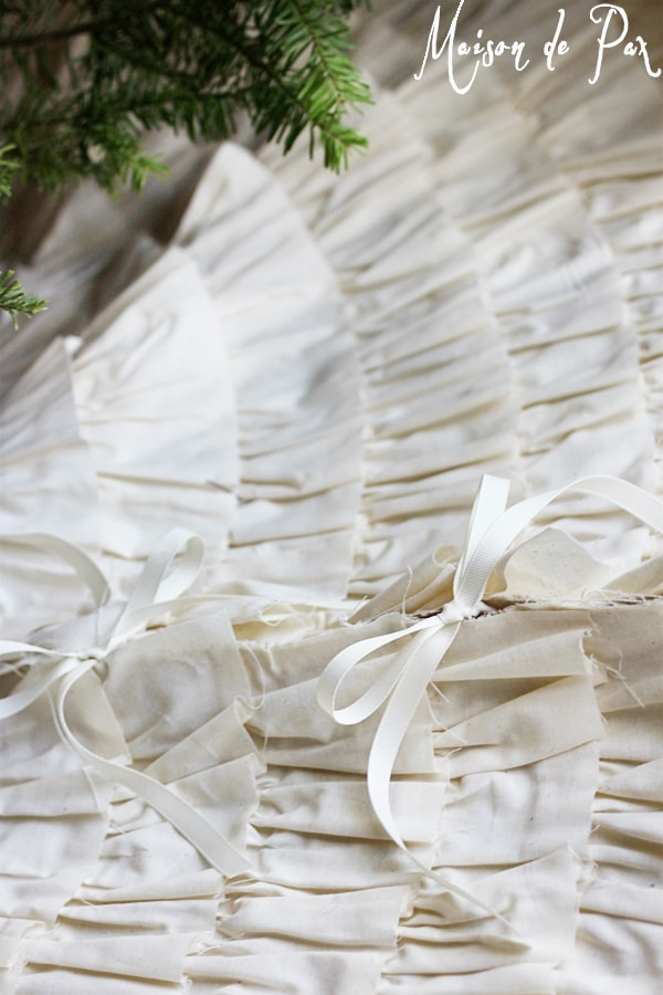 ruffled tree skirt ties- Maison de Pax