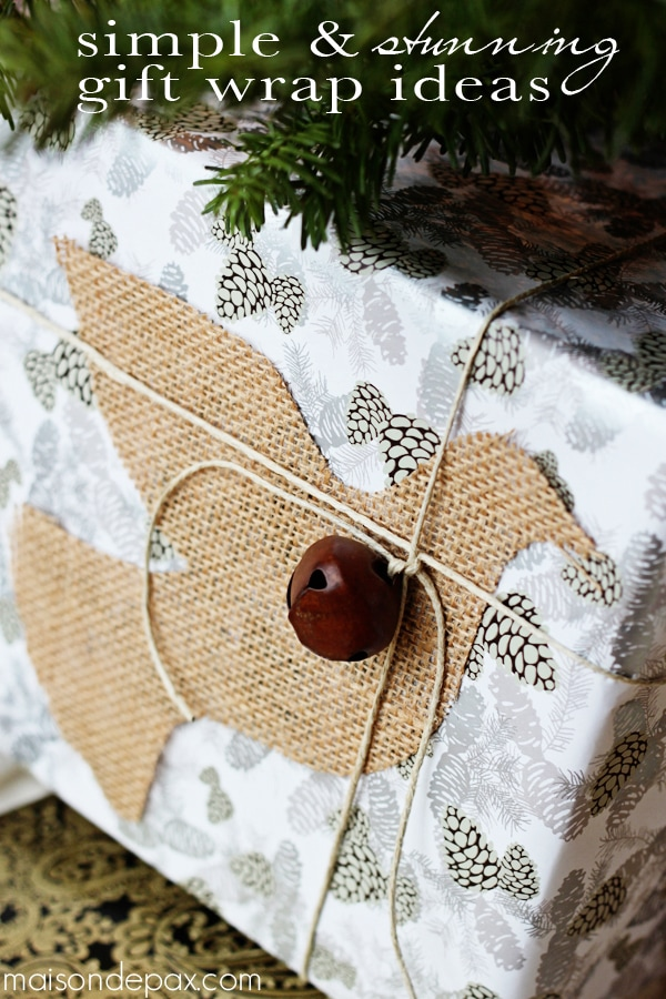 Beautiful, creative, and thrifty gift wrap ideas via maisondepax.com #diy #Christmas #holidays #craft
