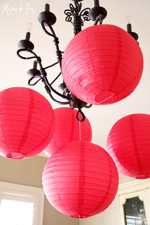 chinese new year chandelier