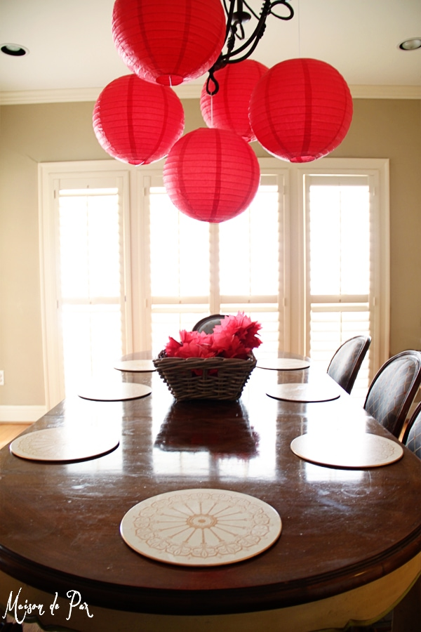 chinese new year dining table