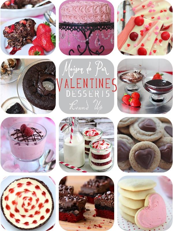 Decadent Valentine's Desserts {Round Up}