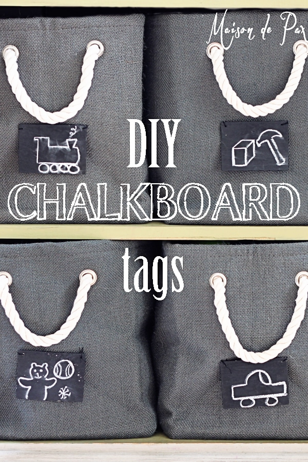 you can organize anything with these easy chalkboard labels! maisondepax.com