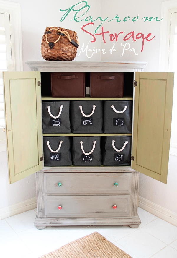 Playroom Storage- Maison de Pax