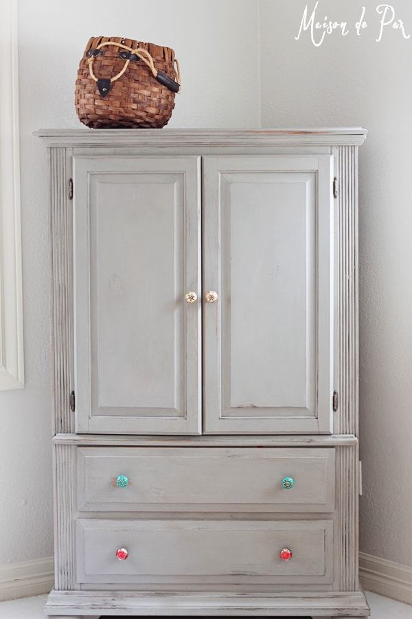 Chalk painted armoire- Maison de Pax