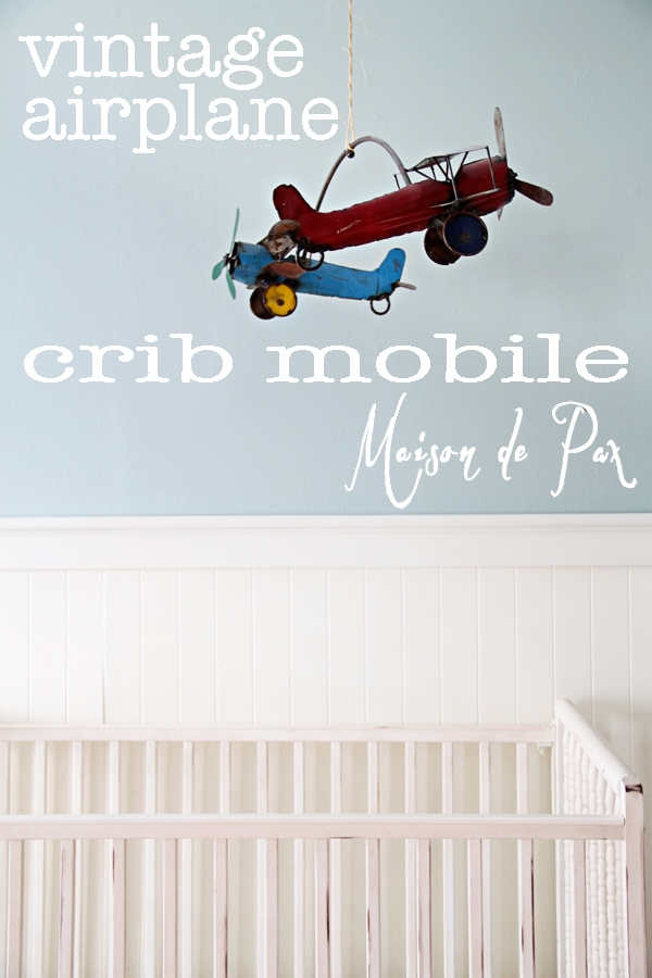 vintage airplane crib mobile