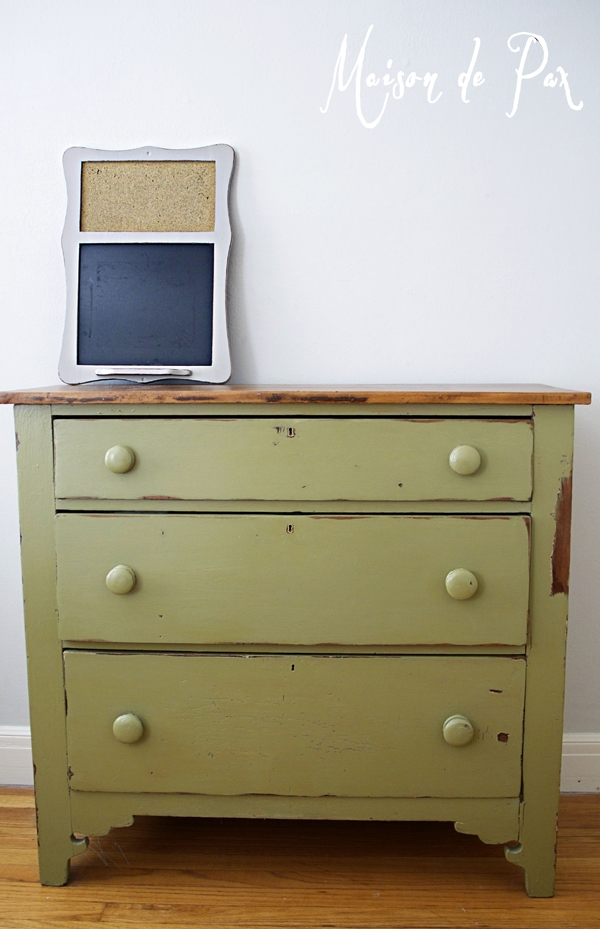 green painted dresser- Maison de Pax