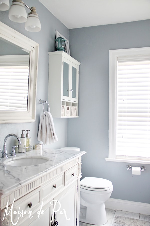 Chic small master bathroom- Maison de Pax