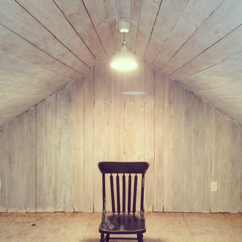 whitewashed attic- Maison de Pax