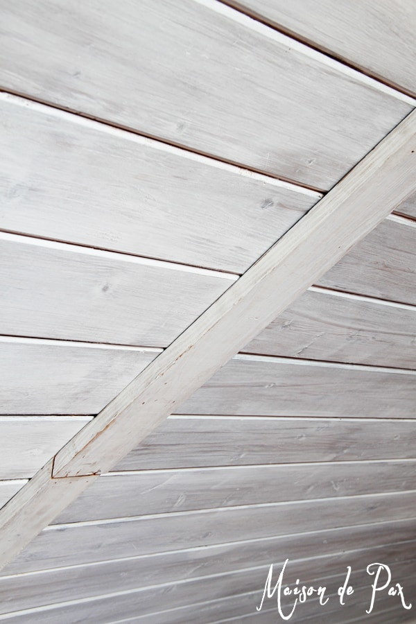 Whitewashed Plank ideas- Maison de Pax