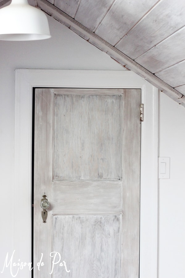 Whitewashed Wood Door- Maison de Pax