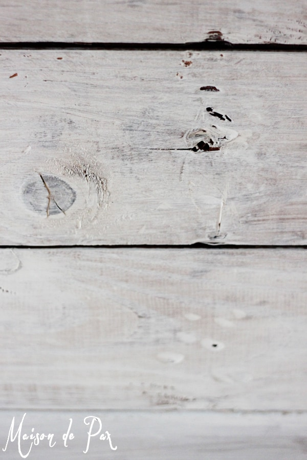 Whitewashed wood planks- Maison de Pax