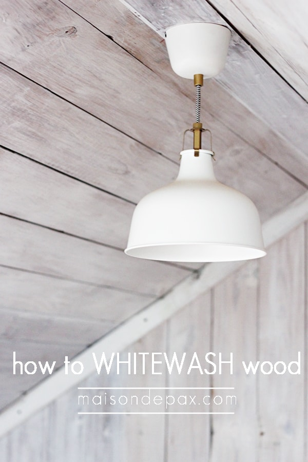 Fabulous step-by-step tutorial for Whitewashed Wood at maisondepax.com