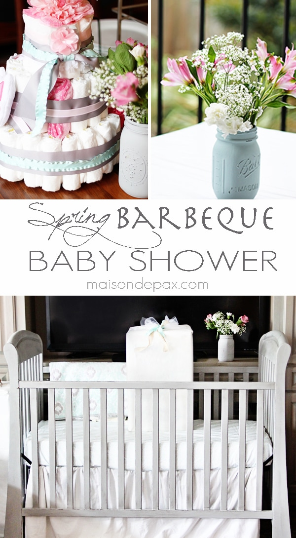 Find excellent ideas and tutorials for decorations, menu, and gifts for a springtime barbeque baby shower at maisondepax.com