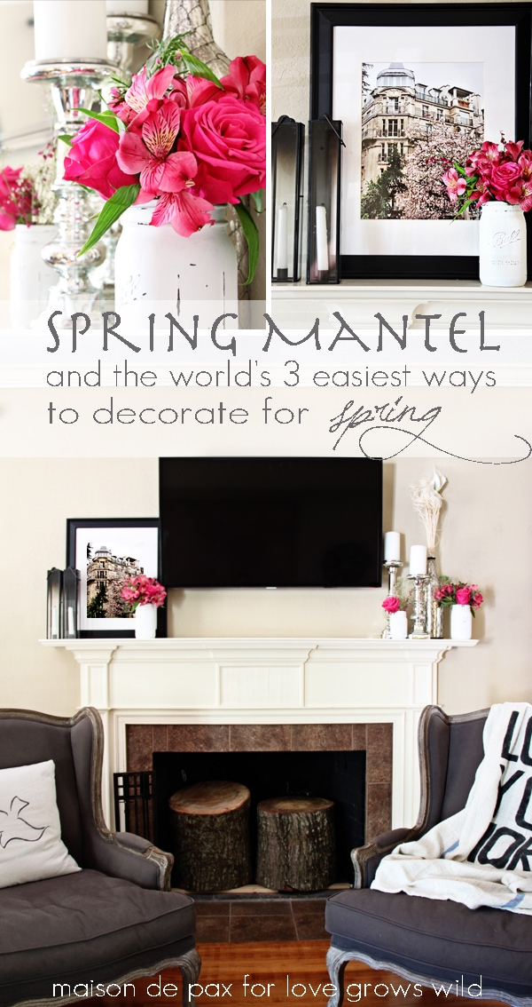 Spring Mantel and Photography