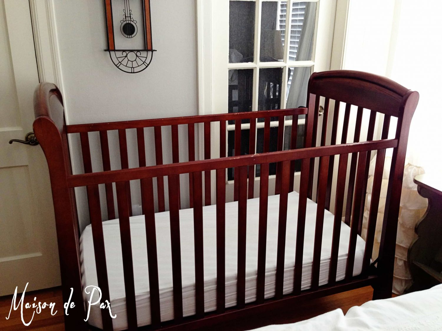 before picture of a crib- Maison de Pax