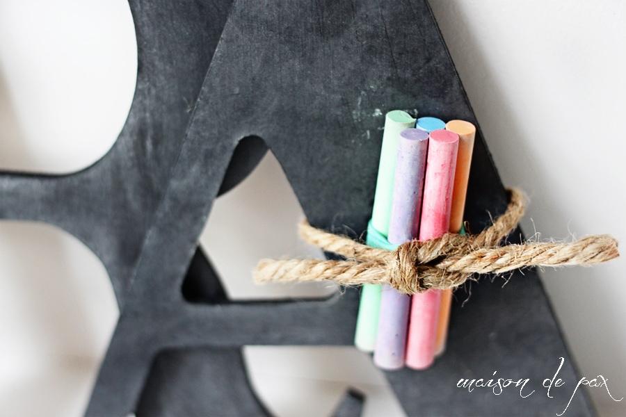 Monogram Chalk Slate- Maison de Pax