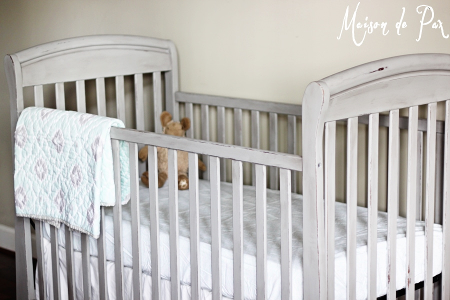 how to paint a crib tutorial- Maison de Pax