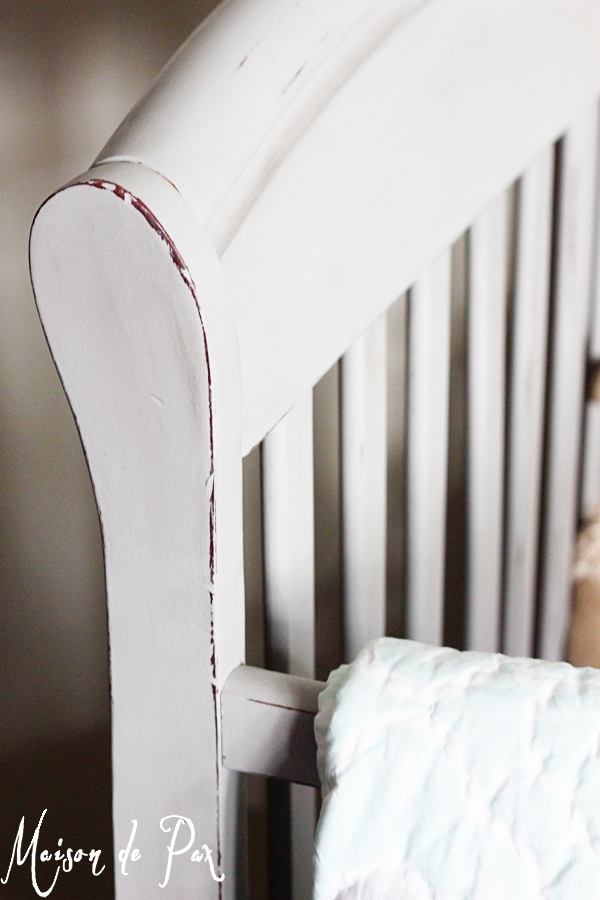 Painted crib tutorial- Maison de Pax