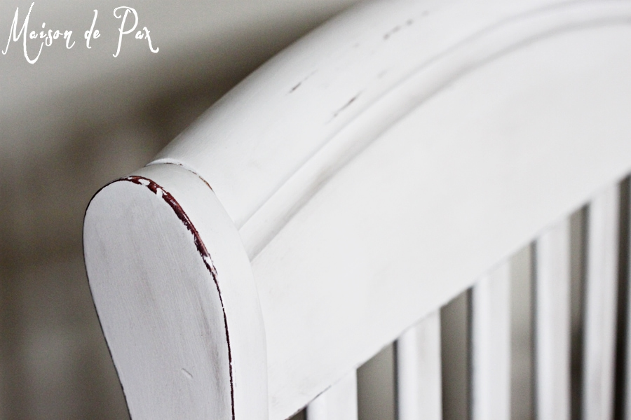 distressed crib with paint- Maison de Pax