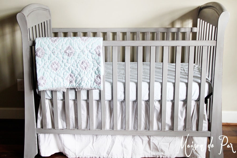 crib makeover with natural chalk paint- Maison de Pax